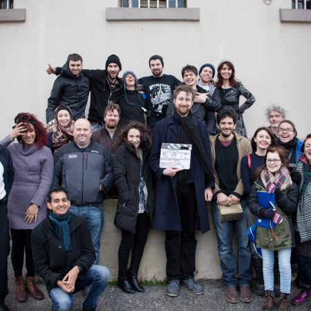 LOCKED IN (bts) with crew and cast, filming in Aberdeen, Scotland